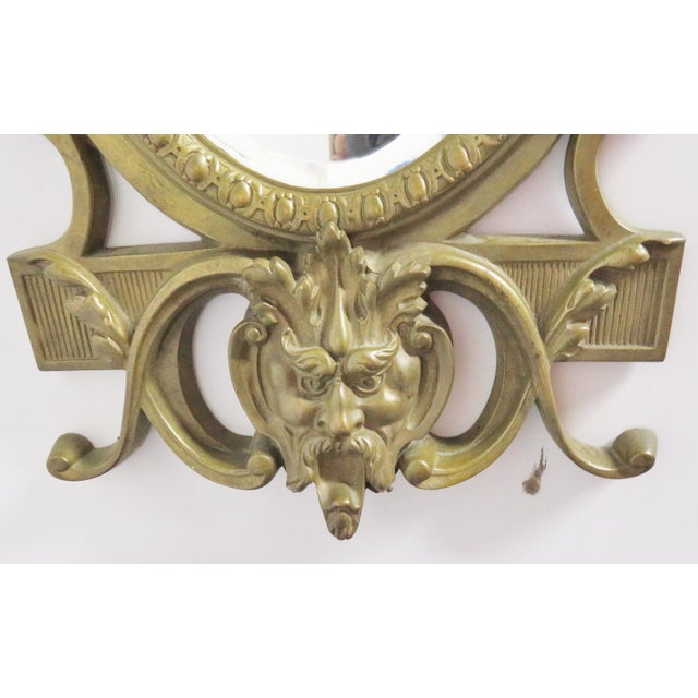 Victorian Figural Brass Mirror For Sale - Image 4 of 5