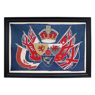 Antique 1902 King Edward VII Coronation Flag For Sale