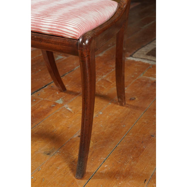 Wood Early 19th Century Vintage English Regency Mahogany Side Chair- Set of 6 For Sale - Image 7 of 8