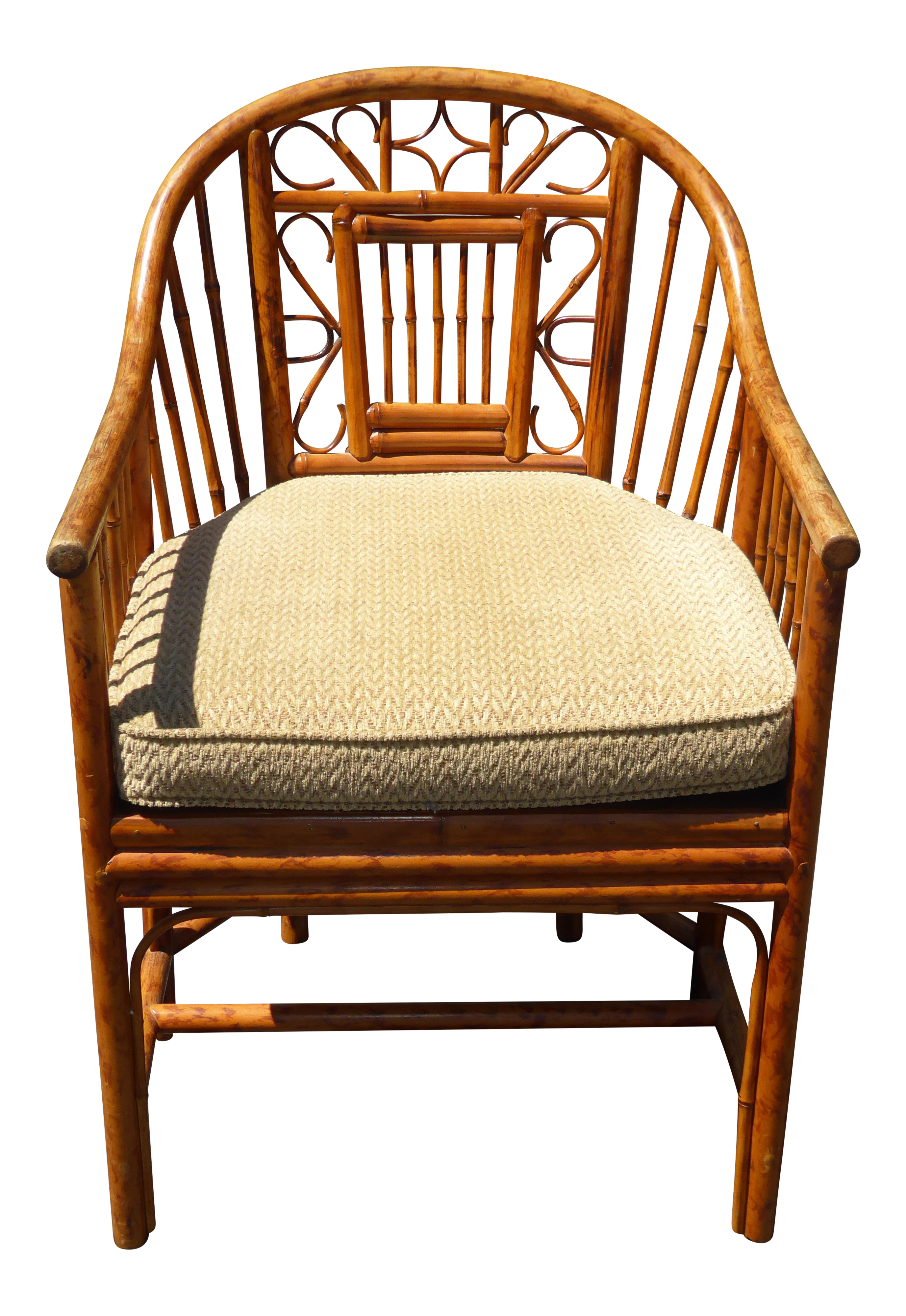 Charmant Vintage Chinoiserie Brighton Pavillion Style Rattan Bamboo U0026 Cane Arm Chair
