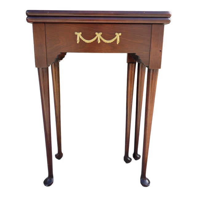 Antique French Mahagony Petite Games Table For Sale
