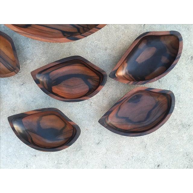 9-Piece Rosewood Salad Bowl Set - Image 4 of 11