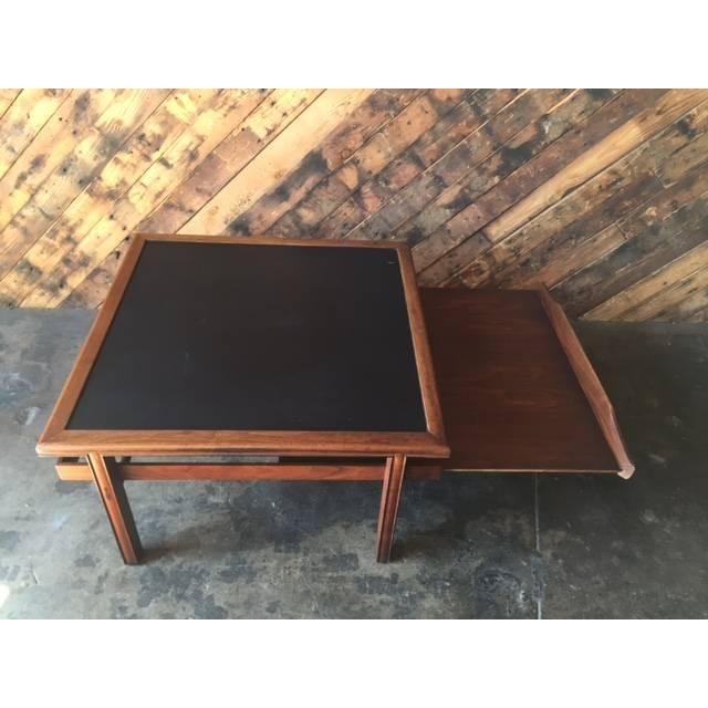 Mid Century Walnut Brown Saltman Coffee Table - Image 5 of 7