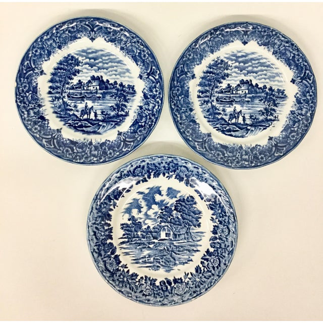 1960s Boho Chic Staffordshire Style Sandwich Plates - Set of 3 For Sale - Image 11 of 11
