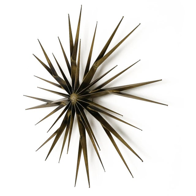 Modern Curtis Jere Patinated Brass Branching Starburst Wall Sculpture, 1981 For Sale - Image 3 of 11