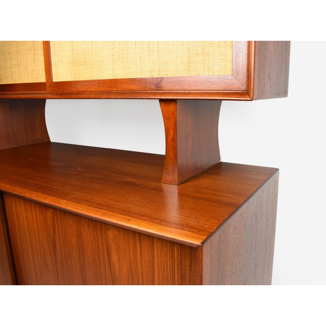 1950s Danish Modern Arne Vodder for Sibast Teak Sideboard Hutch For Sale In New York - Image 6 of 13