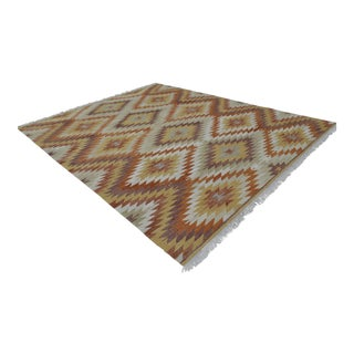 Handwoven Turkish Kilim Rug - 9′2″ X 11′4″