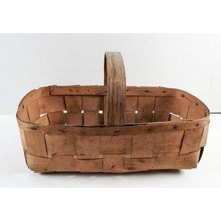 Vintage Woven Veneer Basket Preview