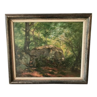 """Muncy Early 20th Century """"Dyer Rock"""" Landscape Painting For Sale"""