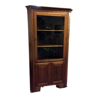 Cherry Cabinet Made Corner Cabinet For Sale