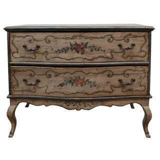 Antique 1850s Italian Venetian Shabby Chic Chest For Sale