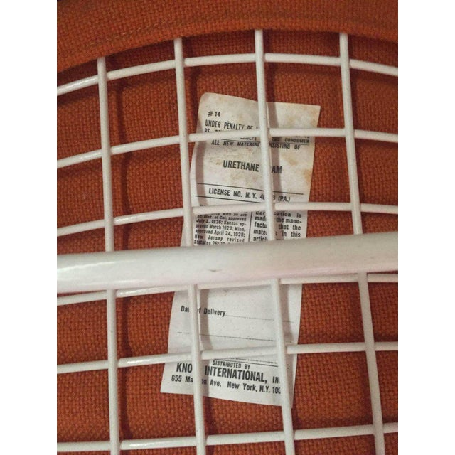 Metal Harry Bertoia Wire Chairs for Knoll International, Early Production Set of Six For Sale - Image 7 of 8