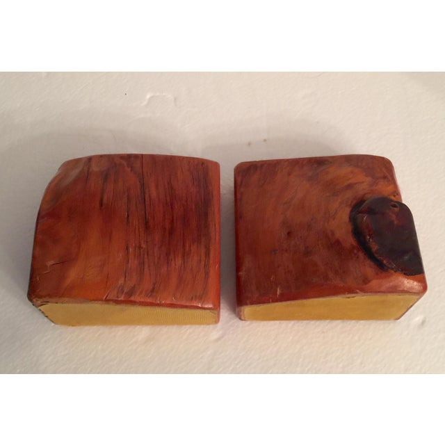Brown Live Edge Organic Wood Bookends - a Pair For Sale - Image 8 of 13