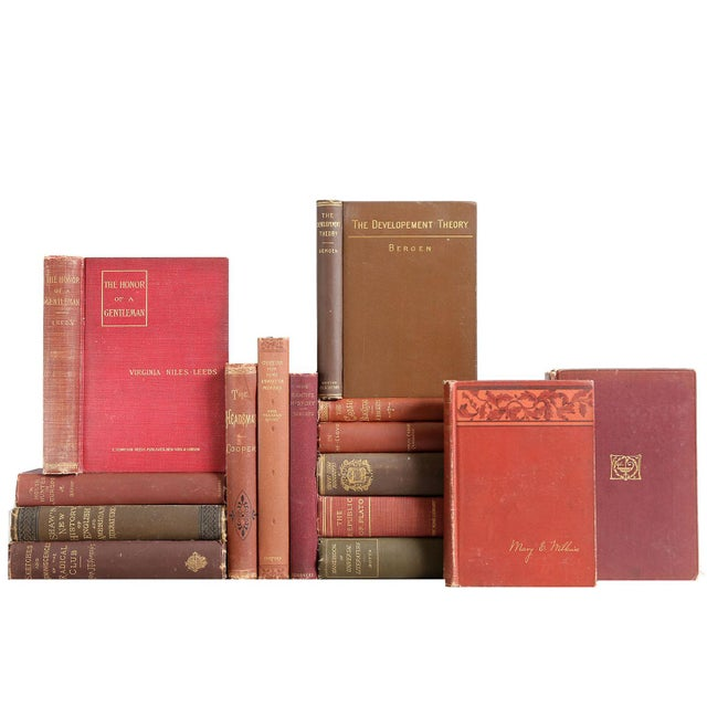 Brown & Burgundy Victorian Books - Set of 15 - Image 1 of 2