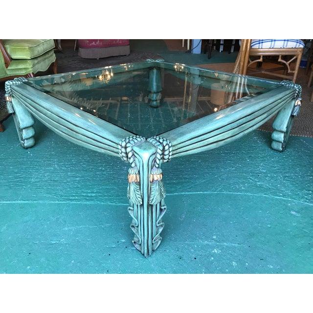 Vintage Regency Draped Tassel Coffee Table For Sale - Image 13 of 13