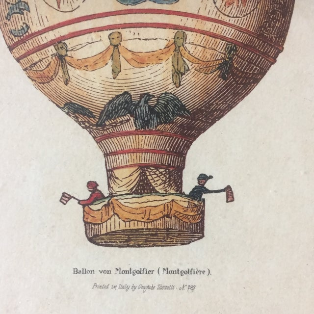 Vintage Hot Air Balloon Prints - A Pair For Sale - Image 4 of 7
