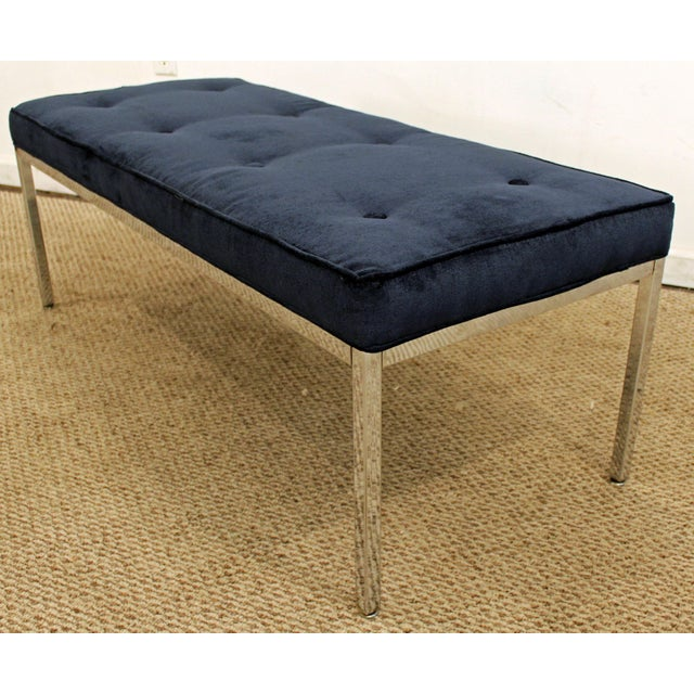 Offered is a Mid-Century Modern chrome bench. The bench has simple lines and design. The piece is in great condition,...