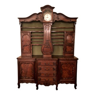 "Antique Early 19th Century French ""Vessalier,"" Clock Cabinet From Bresse. For Sale"