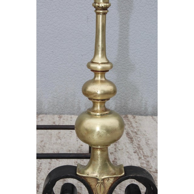 1930s 1930s Bronze Andirons For Sale - Image 5 of 13