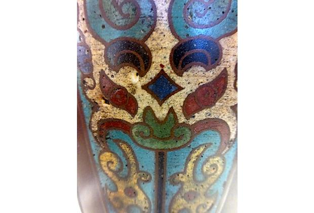 Cloisonne Lamp With Custom Shade   Image 5 Of 7