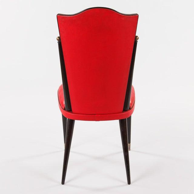 Sensational 1960S Mid Century Modern Red Vinyl Side Chairs A Pair Beatyapartments Chair Design Images Beatyapartmentscom