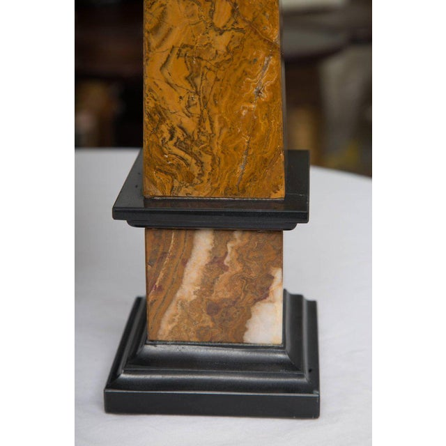 1980s Pair of Marble Obelisks For Sale - Image 5 of 7