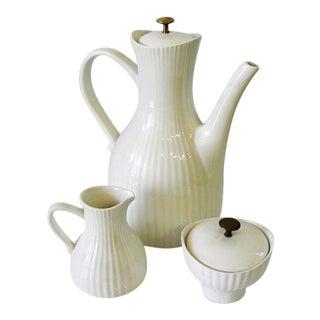 Mid Century Vintage Ernest Sohn Porcelain Coffee Set - 3 Pieces For Sale