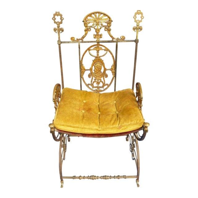 Mid-Century Modern Oscar Bach Bronze and Iron Armchair For Sale