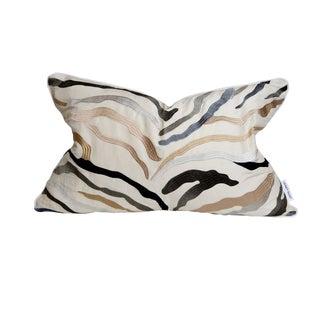 16 X 24 Creme, Brown, Gray Zebra Print Pillow For Sale