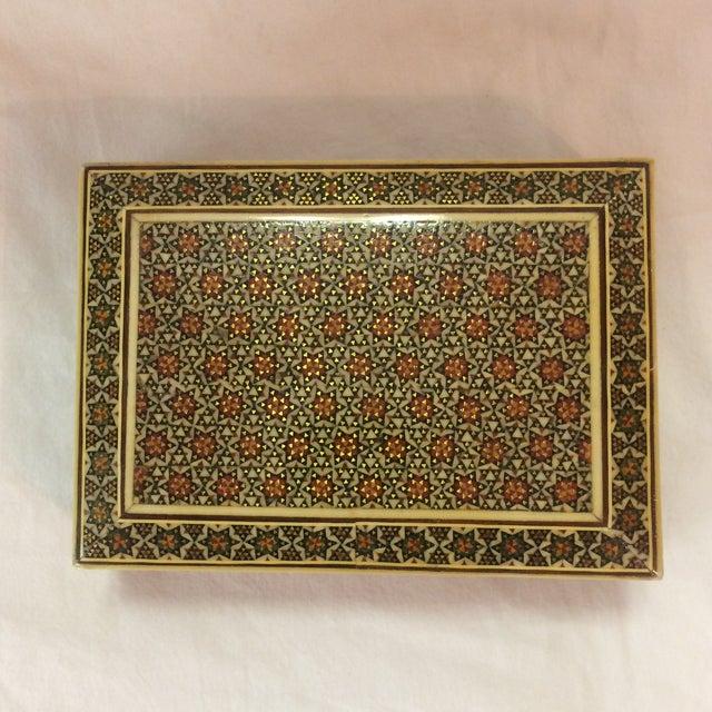 Persian Wood Inlay Box - Image 2 of 10