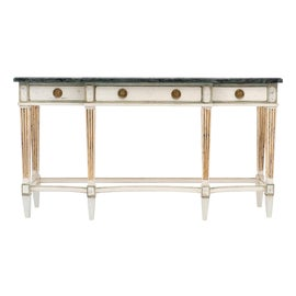 Image of Gold Leaf Console Tables