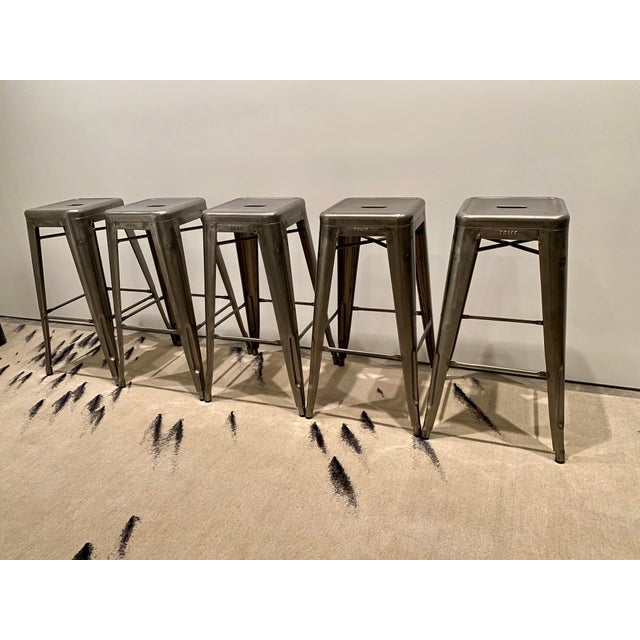 Contemporary Tolix Marais Barstools - Set of 5 For Sale - Image 3 of 6