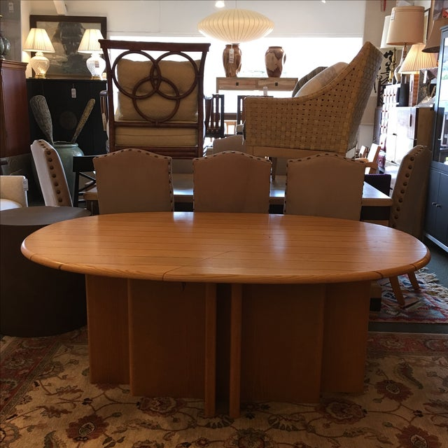 Scandinavian Designs Oval Dining Table & 4 Leaves - Image 2 of 10