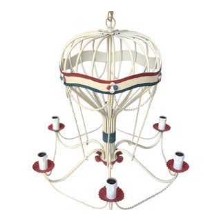 1950s Italian Tole Hot Air Balloon Chandelier