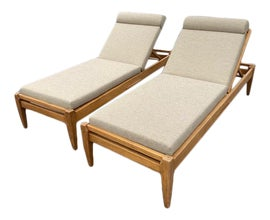 Image of Teak Single Outdoor Chaise Lounges
