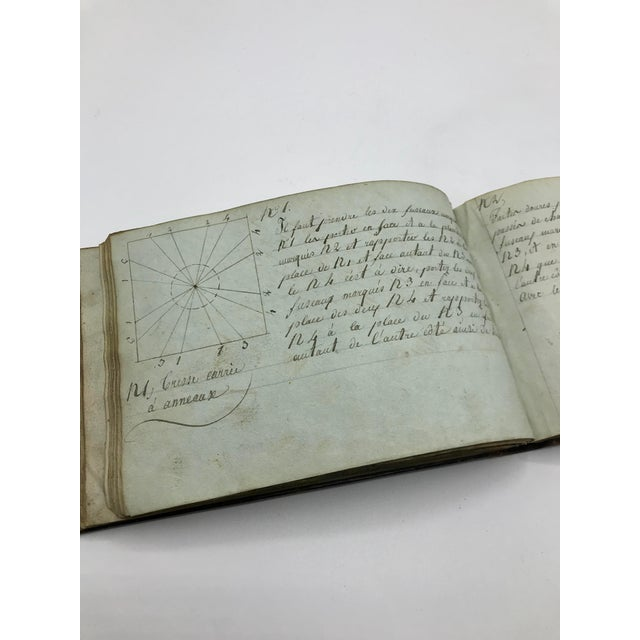 Antique French Personal Leather Journal For Sale In Austin - Image 6 of 13