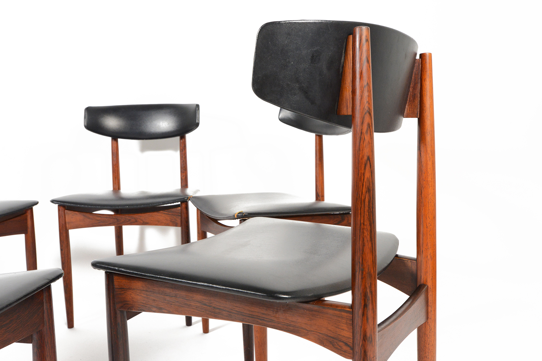 Kofod Larsen Style Rosewood Dining Chairs   S/6   Image 5 Of 10