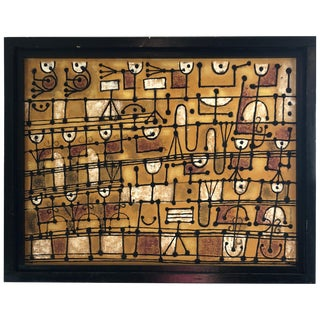 Marvelous Music Motife Painting by Listed Artist Margaret Balzer Cantieni For Sale