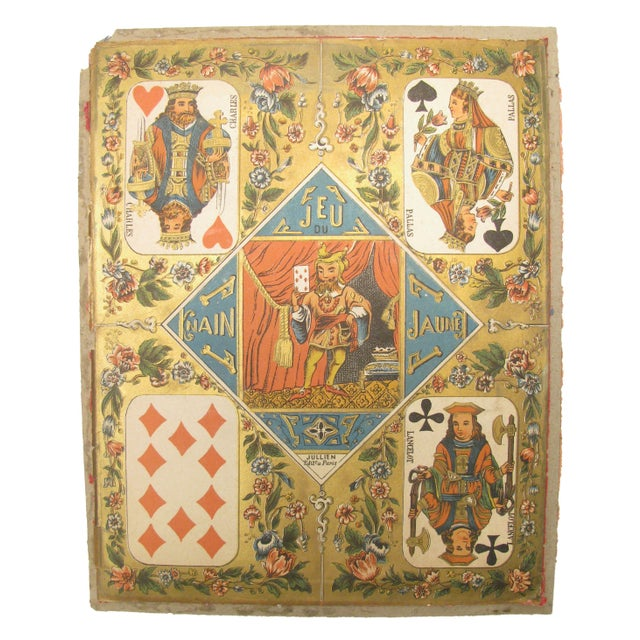 "Add a little French style to your decor with this traditional game board from ""Le Nain Jaune"" (the yellow dwarf). The..."