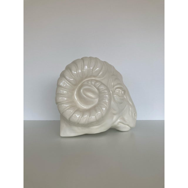 1970s Vintage Rams Head Wall Planter For Sale - Image 5 of 10