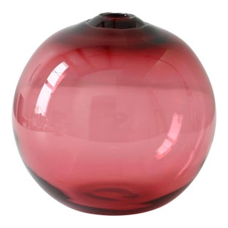 "SkLO Float Glass Vessel 16"" - Red For Sale"