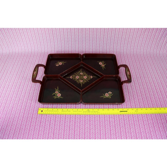 Vintage Maruni Lacquerware Tray For Sale - Image 9 of 10