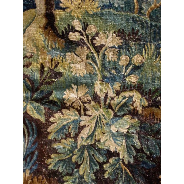 18th Century Flemish Verdure Tapestry Wall Hanging For Sale - Image 11 of 13