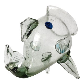 Italian Murano Large Fish Candy Bowl, Accent