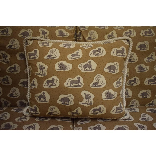 Cowtan & Tout Safari Upholstered Sofa w Pillow - Image 3 of 9