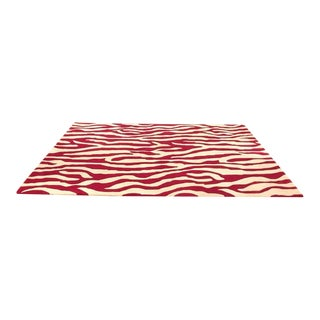 Zebra Area Rug - 5′1″ × 8′4″