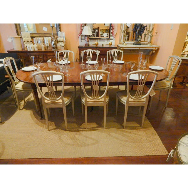 White Late 19th C Painted Swedish Dining Chairs - Set of 8 For Sale - Image 8 of 9