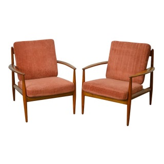 Arne Vodder France & Daverkosen Danish Modern Pair of Teak Lounge Chairs