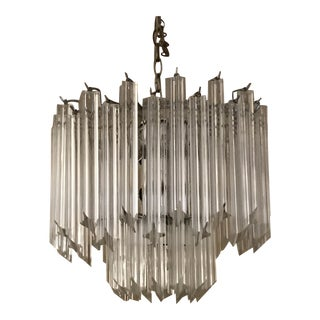1960s Vintage Lucite Two-Tier Chandelier For Sale