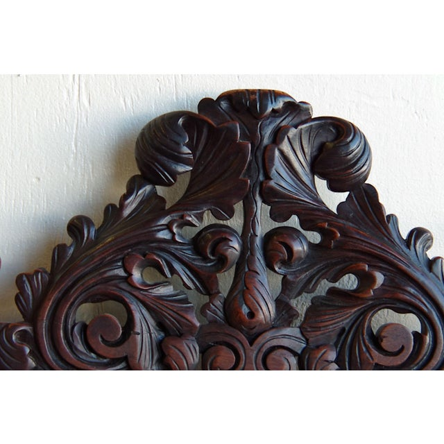 Antique Anglo-Indian Rococo Style Carved Chairs - A Pair - Image 6 of 11